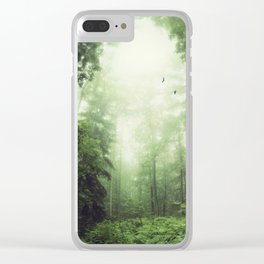 German Jungle - Forest in Morning Mist Clear iPhone Case