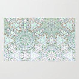 Mint Geometric Ombre Rug