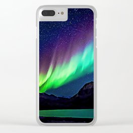 A Spectacle Of Polar Lights | Oil Painting Clear iPhone Case