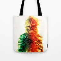 chewbacca Tote Bags featuring Chewbacca by Tom Johnson