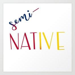 Semi-Native Art Print