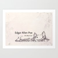 edgar allen poe Art Prints featuring Edgar Allen Poe by Andreas Derebucha