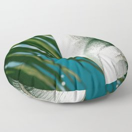 E Hawaii Aloha E Tropical Palm Floor Pillow