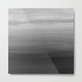 Touching Black Gray White Watercolor Abstract #1 #painting #decor #art #society6 Metal Print