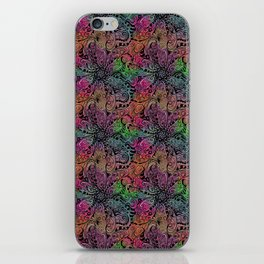 Rainbow Tie Dye Zentangle iPhone Skin