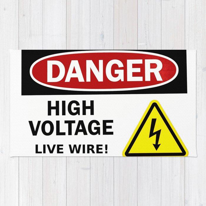 Danger, high voltage! Rug