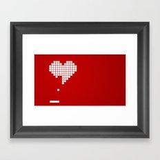 Arknoid Heart Framed Art Print