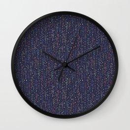 Dark Party Streamers Vector Pattern Wall Clock
