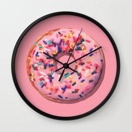 Pink Donut Wall Clock