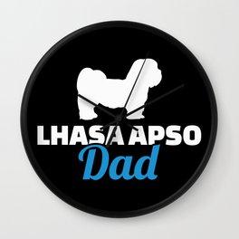 Lhasa Apso dad Wall Clock