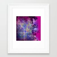 chicago Framed Art Prints featuring chicago by Bekim ART