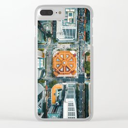 Aerial Cityscape View (Color) Clear iPhone Case
