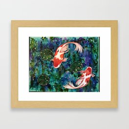 Koi pond Framed Art Print