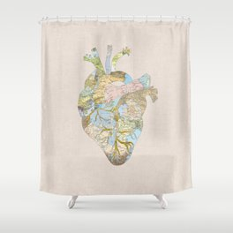 A Traveler's Heart (N.T) Shower Curtain
