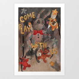 Fazbear and Friends Art Print