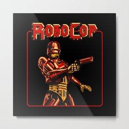 Robocop Red Vision Metal Print
