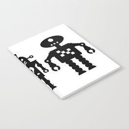 Three Robots by Bruce Gray Notebook