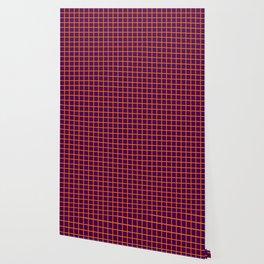 Orange On Purple Grid Wallpaper