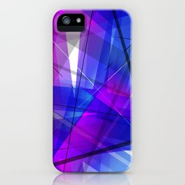 Transparent Shapes Blue and Pink Geometric Abstract Art iPhone Case