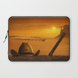 The sheriff is on the road Laptop Sleeve