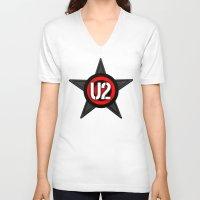 u2 V-neck T-shirts featuring U2 by loveme