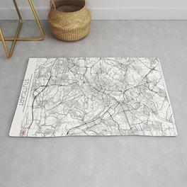 Stuttgart Map White Rug
