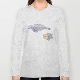 Space Manatee Long Sleeve T-shirt