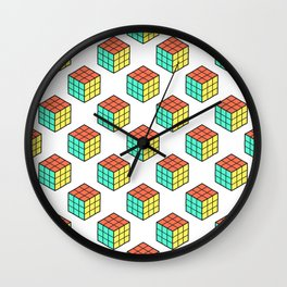 Rubiks Cube Pattern Wall Clock