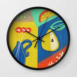 Botanical slice of color 02 Wall Clock