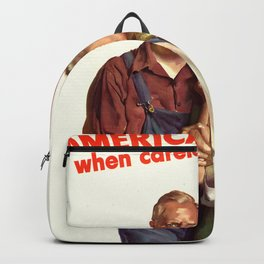 Americans Suffer Backpack