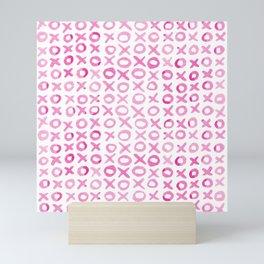Xoxo valentine's day - pink Mini Art Print