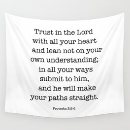 Proverbs 3:5-6 Wall Tapestry