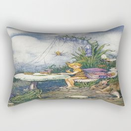 """""""Piccolo Sat Down at the Mushroom Table"""" by Helen Jacobs 1918 Rectangular Pillow"""