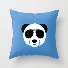 Panda Eyes Throw Pillow