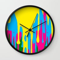 jewish Wall Clocks featuring The paint has left the building by Brown Eyed Lady
