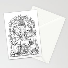 Ganesha Lineart Stationery Cards