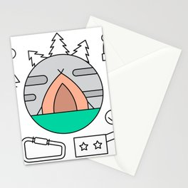 Hiking and Camping Supplies Stationery Cards