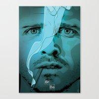 jesse pinkman Canvas Prints featuring Jesse Pinkman by Guillaume Vasseur