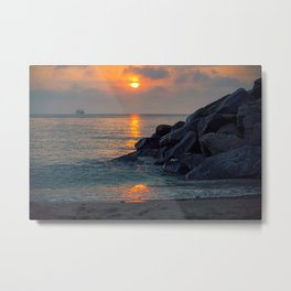 The Ft. Lauderdale Jetties Metal Print