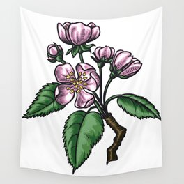 Pear Tree Flowers Wall Tapestry