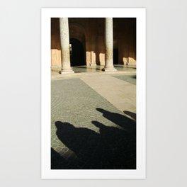 Shadows in the Courtyard Art Print