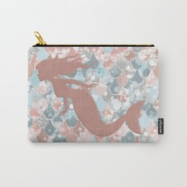 Elegant Mermaid Blush, Pink, Coral, Aqua, Teal Carry-All Pouch