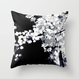 Etherial leaves Throw Pillow