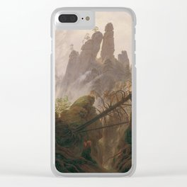 Caspar David Friedrich - Rocky Lanscape in the Elbe Sandstone Mountains Clear iPhone Case