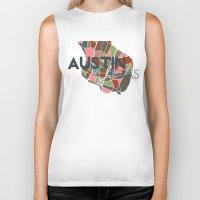 austin Biker Tanks featuring Austin Texas + by Studio Tesouro