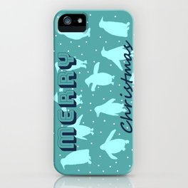 Merry Christmas from the penguins II iPhone Case