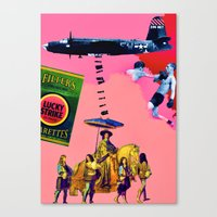entourage Canvas Prints featuring Filtered Cigarettes by AF Knott
