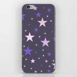 Purple Stars iPhone Skin