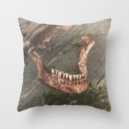 Catacomb Culture - Mandible / Jaw Bone Throw Pillow