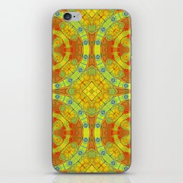 African Vintage Gold and Orange Mandala iPhone Skin